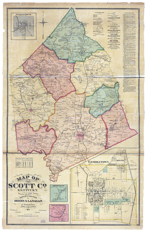 Vintage Map of Scott County